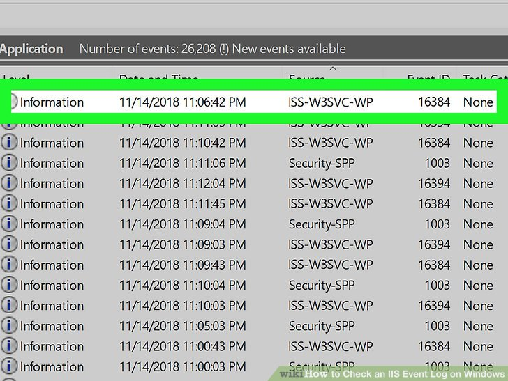 How to Check an IIS Event Log on Windows 7 Steps (with Pictures)