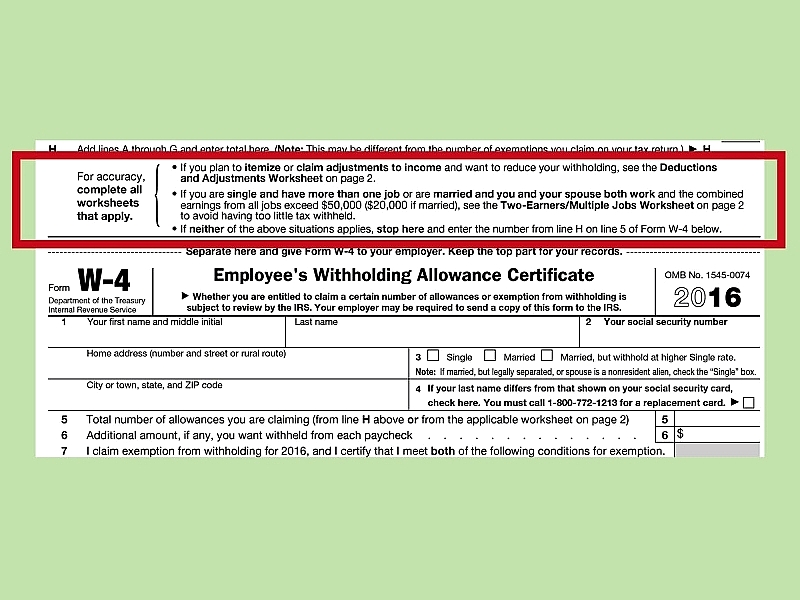 How to Fill Out a W 4 HowT – Irs Personal Allowance Worksheet