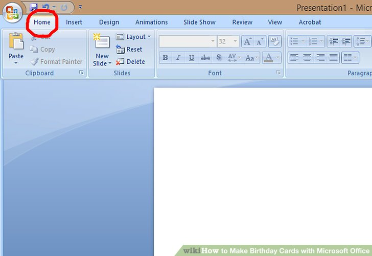 How to Make Birthday Cards with Microsoft Office (with Pictures)