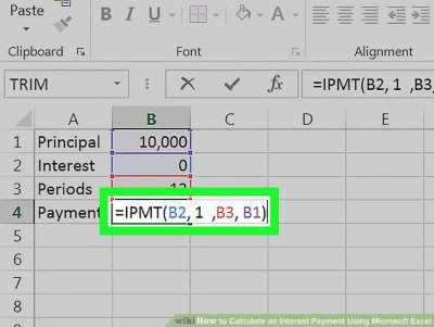 How to Calculate an Interest Payment Using Microsoft Excel