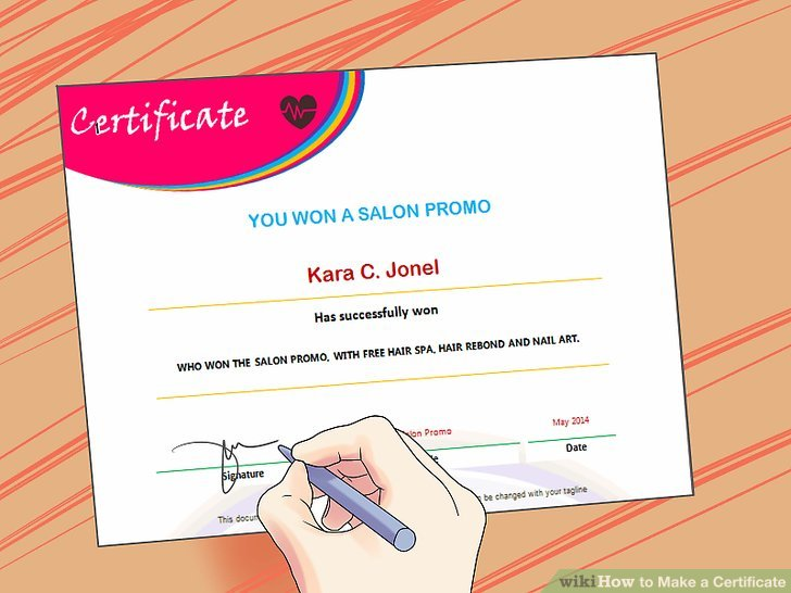 3 Ways to Make a Certificate - wikiHow
