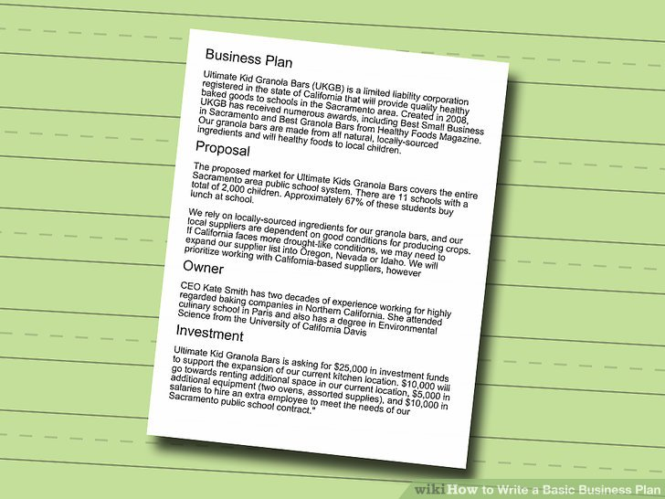 How to Write a Basic Business Plan (with Sample Business Plans) - effective solid business contract making tips