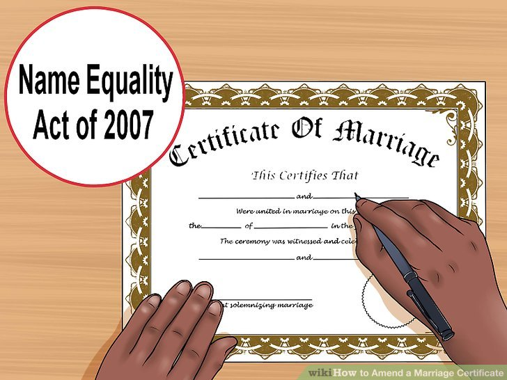 How to Amend a Marriage Certificate 9 Steps (with Pictures) - marriage certificate