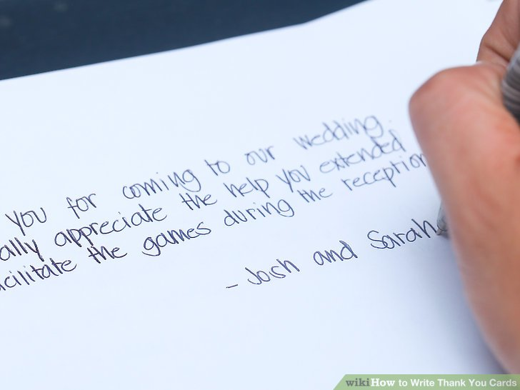 How to Write Thank You Cards 9 Steps (with Pictures) - wikiHow