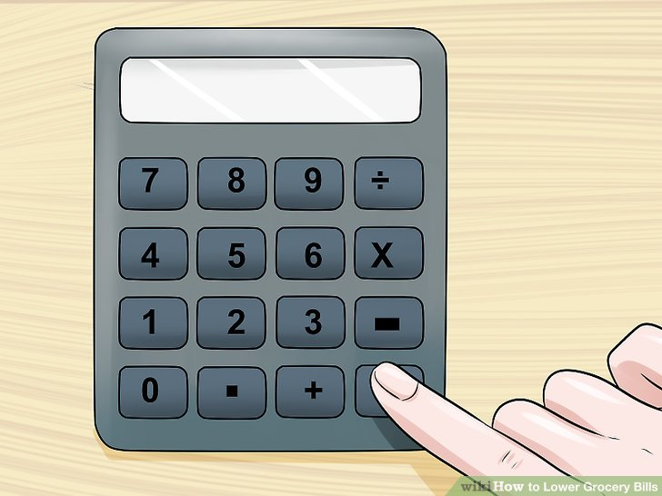 How to Lower Grocery Bills 13 Steps (with Pictures) - wikiHow - grocery calculator online