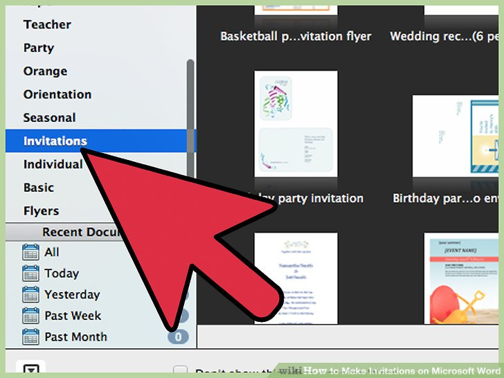 How to Make Invitations on Microsoft Word 10 Steps