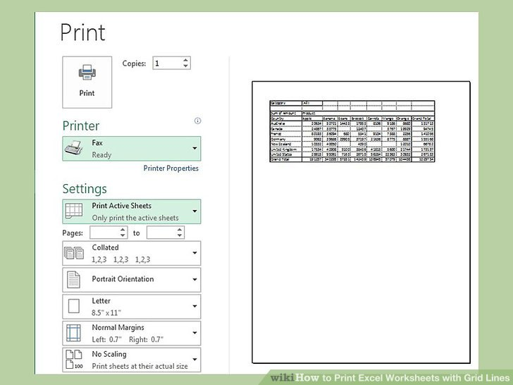 How to Print Excel Worksheets with Grid Lines 9 Steps - print lines on paper