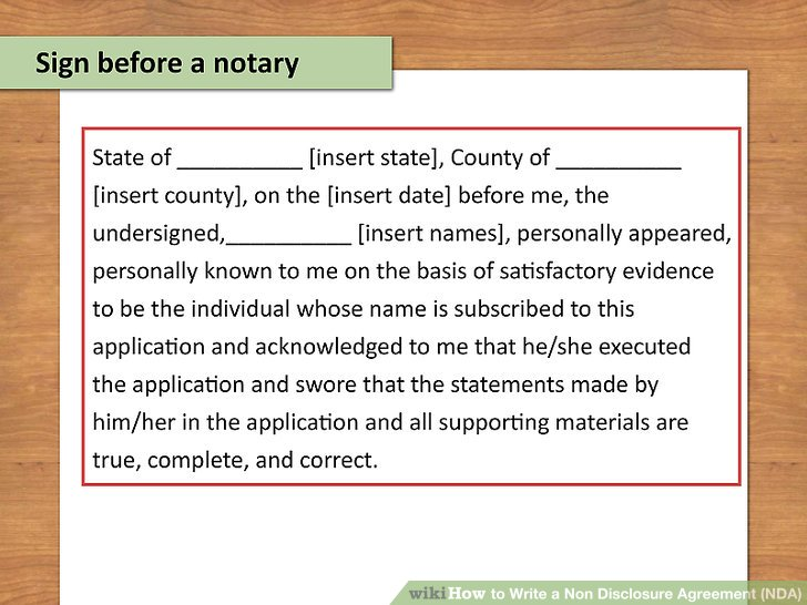 How to Write a Non Disclosure Agreement (NDA) (with Pictures)