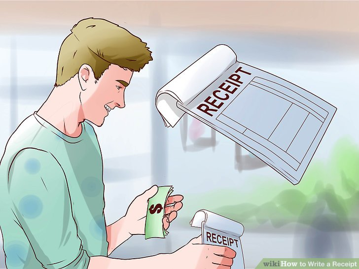 How to Write a Receipt 9 Steps (with Pictures) - wikiHow - create a receipt of payment
