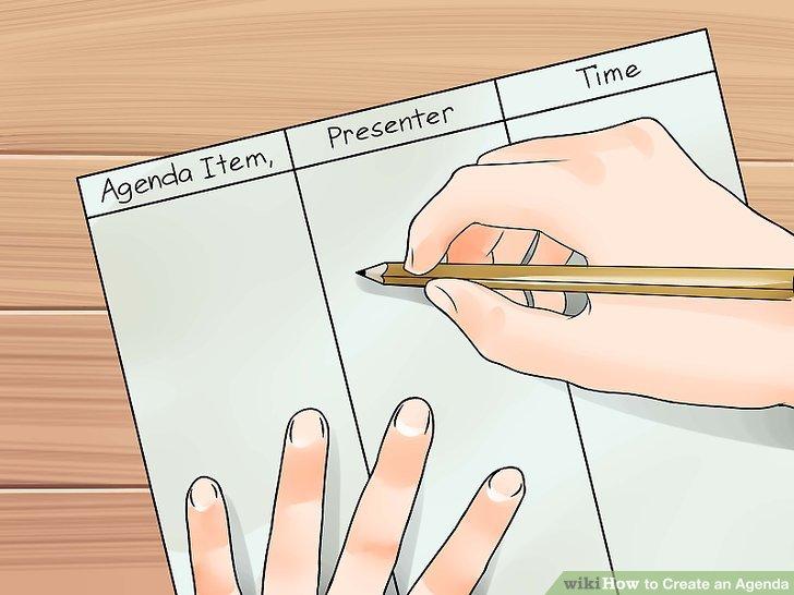 3 Ways to Create an Agenda - wikiHow