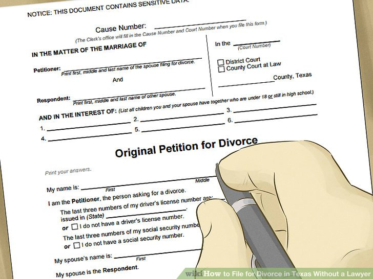 How to File for Divorce in Texas Without a Lawyer (with Pictures)