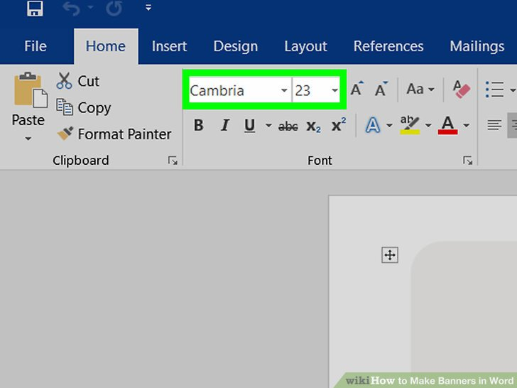 creating a banner in word - Canasbergdorfbib