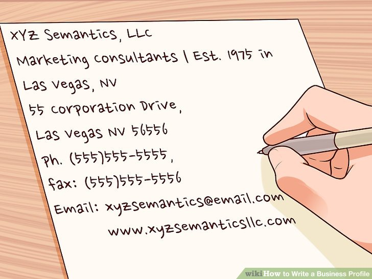 Expert Advice on How to Write a Business Profile - wikiHow - How To Write A Profile