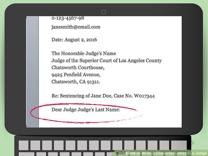 How to Write a Character Letter to a Judge 13 Steps