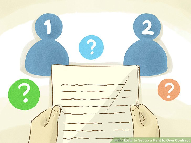 How to Set up a Rent to Own Contract (with Pictures) - wikiHow - rent to own home contract
