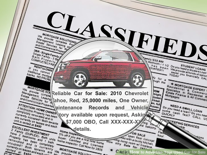 3 Ways to Advertise Your Used Car for Sale - wikiHow - print for sale sign for car
