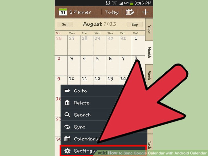 How to Sync Google Calendar with Android Calendar (with Pictures) - calender s