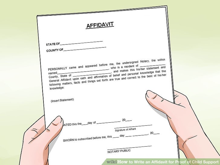How to Write an Affidavit for Proof of Child Support - affidavit statement of facts