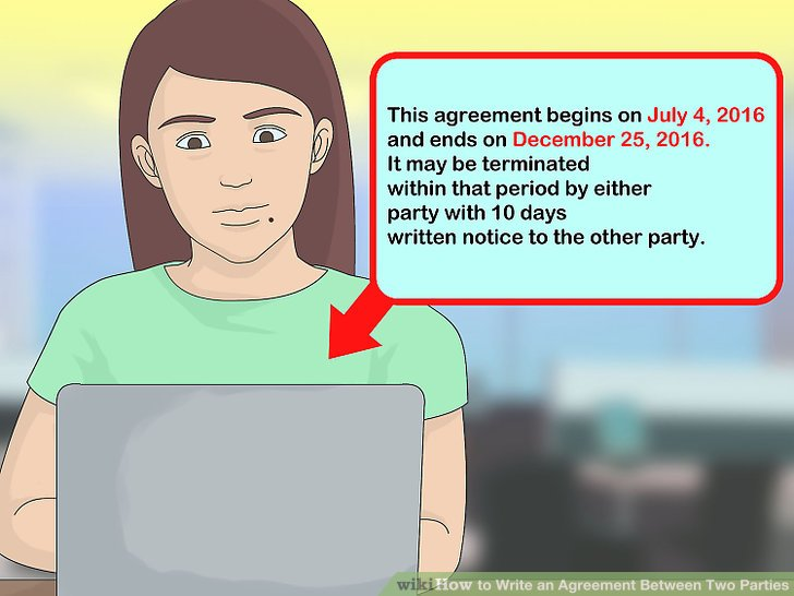 How to Write an Agreement Between Two Parties (with Pictures)