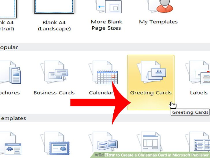 How to Create a Christmas Card in Microsoft Publisher 5 Steps - microsoft publisher christmas templates