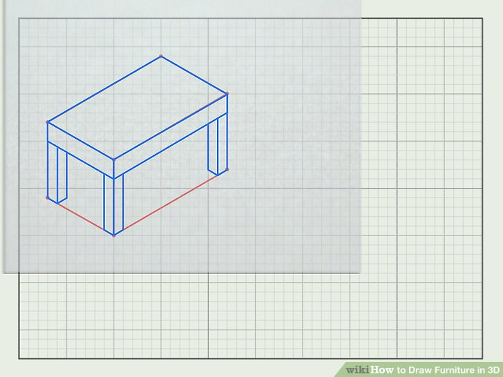 How to Draw Furniture in 3D (with Pictures) - wikiHow - 3d graph paper