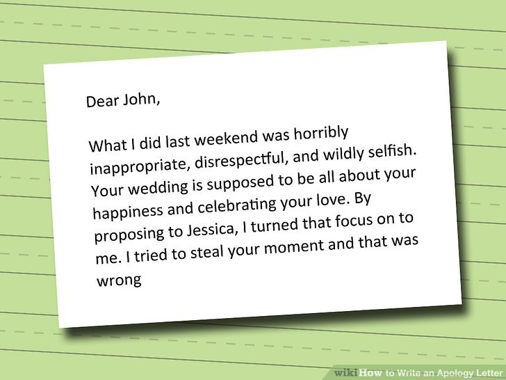 How to Write an Apology Letter 15 Steps (with Pictures) - wikiHow - letter of apology sample