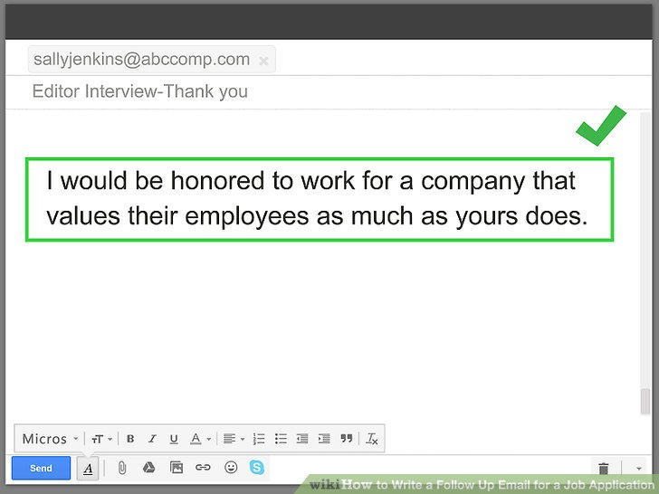 4 Ways to Write a Follow Up Email for a Job Application - wikiHow