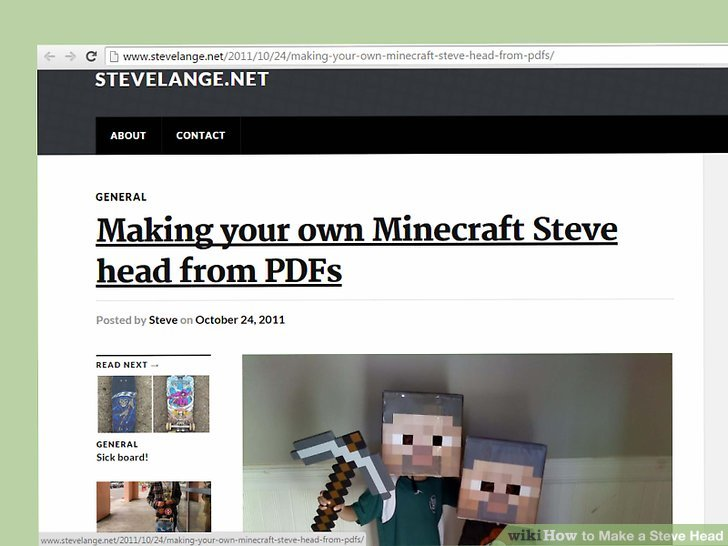How to Make a Steve Head (with Pictures) - wikiHow