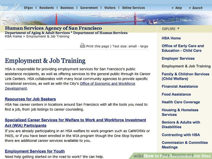 How to Find Government Job Sites 7 Steps (with Pictures)