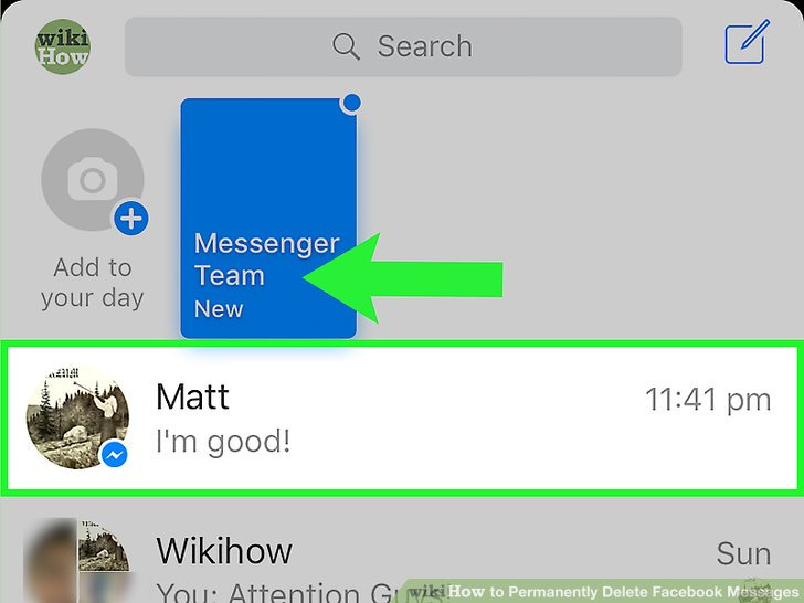 How to delete a message from facebook messenger app ltt image titled permanently delete facebook messages step 4 ccuart Image collections