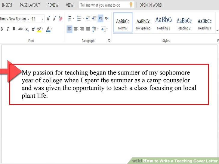 How to Write a Teaching Cover Letter (with Pictures) - wikiHow - writing cover letters