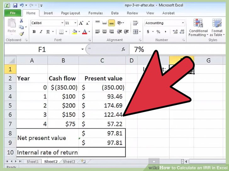 How to Calculate an IRR in Excel 10 Steps (with Pictures)