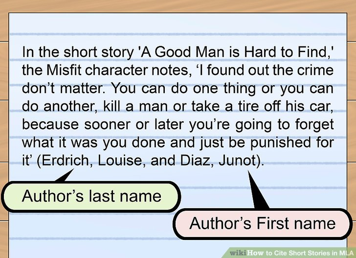 3 Ways to Cite Short Stories in MLA - wikiHow