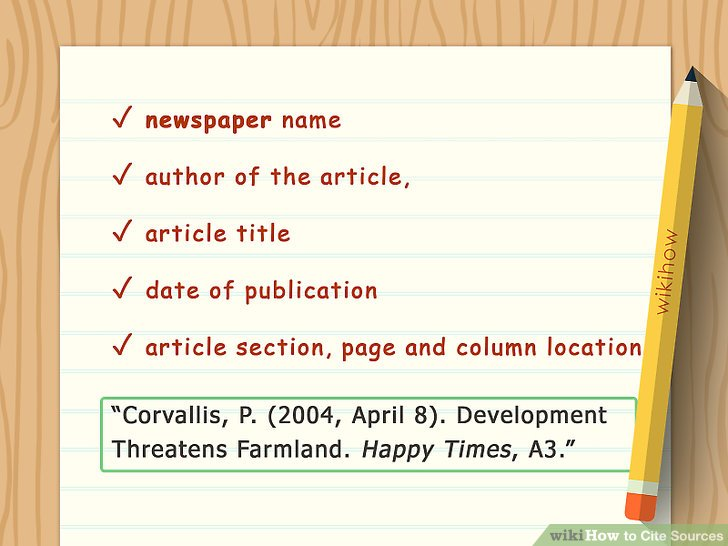 How to Cite Sources (with Sample Citations) - wikiHow