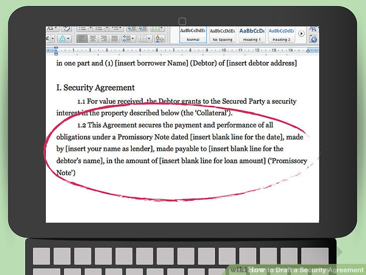 How to Draft a Security Agreement (with Pictures) - wikiHow - draft promissory note agreement