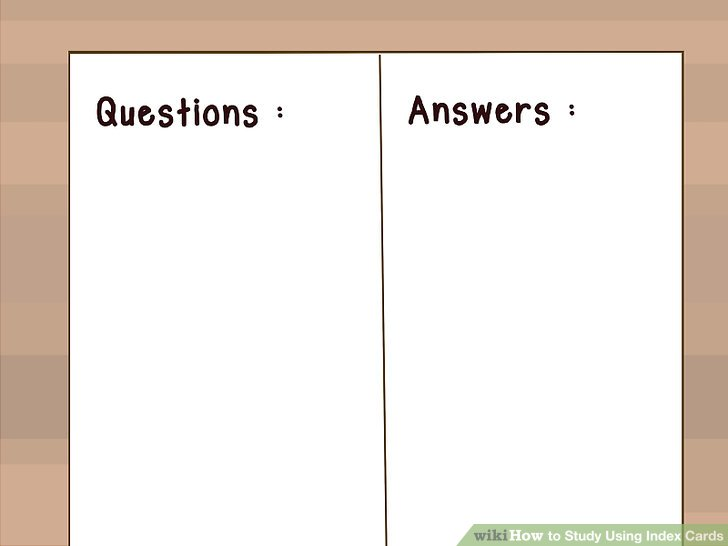 3 Ways to Study Using Index Cards - wikiHow