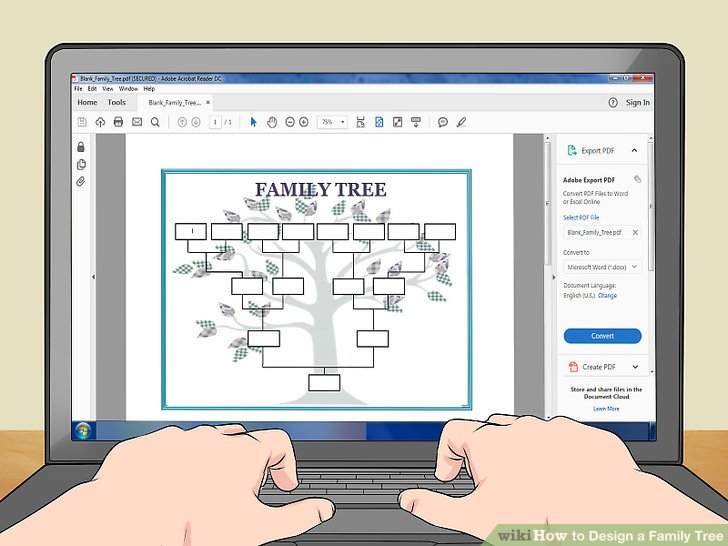 How to Design a Family Tree (with Pictures) - wikiHow