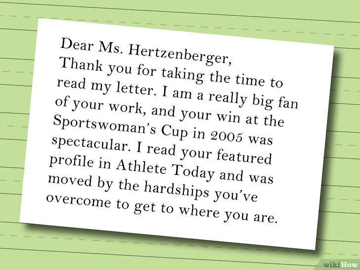 Cómo escribir una carta de solicitud de autógrafo