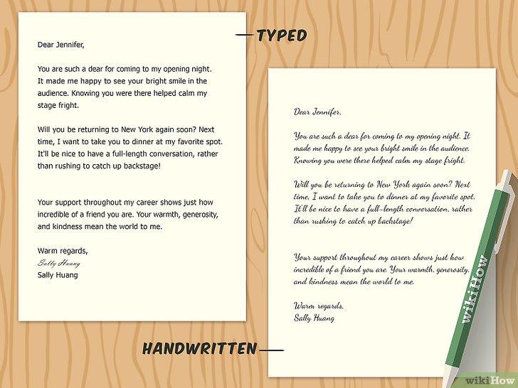Cómo redactar una carta de agradecimiento 13 pasos