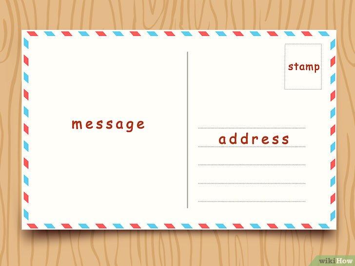 Cómo escribir una postal 15 pasos (con fotos) - wikiHow