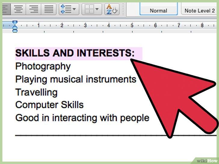 mettre ses skills cv