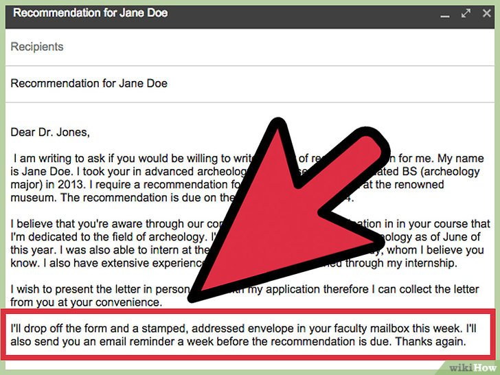 how to ask a professor for a letter of recommendation through email