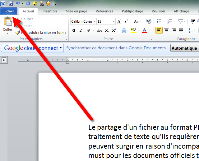 comment enregistrer un cv word en pdf