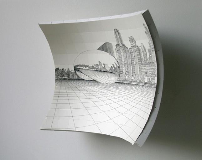 Akash 3d Wallpaper Un Chevalet Concave Pour Dessiner En 3d