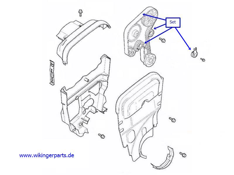volvo timing belt kit 30758270