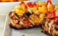 Boneless chicken breast recipes – molasses dipped chicken with mango salsa