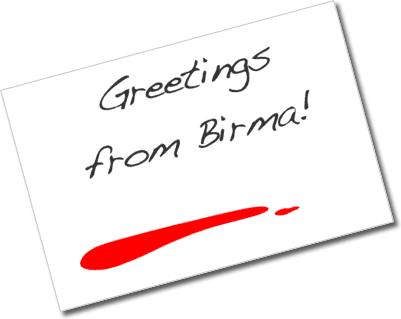 Postkarte aus Birma