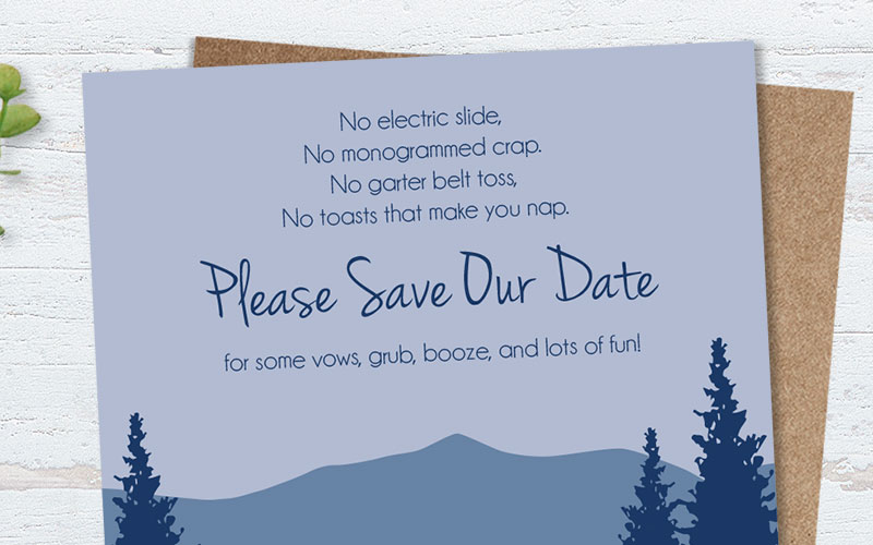 Funny Save the Date Wording Examples You Might Not Have Seen Before