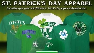 Kentucky Wildcat St. Patrick's Day Apparel