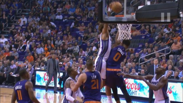 WATCH:  Willie Cauley-Stein soars for the one-handed hammer poster on rookie